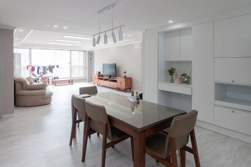 주방의 기능을 극대화한 경남 창원시 48평 아파트 인테리어 48평,화이트,모던,아파트,경남,창원시