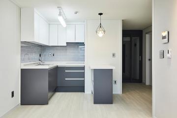 화이트와 그레이가 완성시킨 모던함, 25평 아파트 인테리어 화이트,그레이,심플,모던,영등포구,양평동