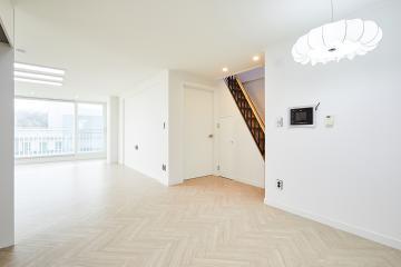 맑고 투명한 화이트 공간, 34평 아파트 인테리어  34평,화이트,심플,모던,용인시,죽전동