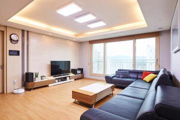 은퇴한 60대 부부를 위한 아늑한 집, 40평 아파트 인테리어 40평,모던,내츄럴,그레이,아파트,자곡동,강남구