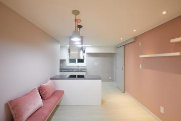 핑크 로망을 100% 충촉시켜주는 48평 아파트 인테리어 48평,핑크,화이트,모던,아파트,광주,남구