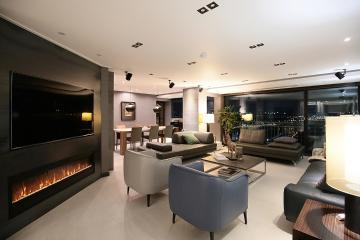 평범했던 공간을 펜트하우스처럼, 42평 아파트 인테리어
