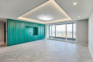 독특한 컬러와 감각으로 디자인한 69평 아파트 인테리어 69평,모던,그린,아파트,브라운,김포시,풍무동