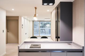 어느 가구를 배치해도 어울리는 컬러 조합, 43평 아파트 인테리어 43평,화이트,심플,모던,양천구,신정동