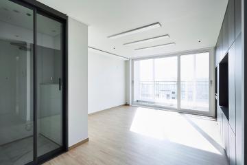 실용성을 중시한 화이트톤의 34평 아파트 인테리어