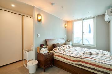 가벽을 활용해서 공간을 효율적으로 사용한 43평 아파트 인테리어 43평,화이트,심플,아파트,노원