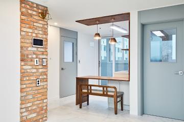아트월 활용으로 카페 같은 따뜻한 분위기의 23평 아파트 인테리어 23평,화이트,심플,아파트,인천