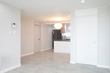 맑고 깨끗하고 은은한 화이트 색채, 32평 아파트 인테리어