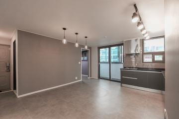 그레이 무드의 홈 카페 스타일, 39평 아파트 인테리어 39평,그레이,심플,아파트,영등포,여의도