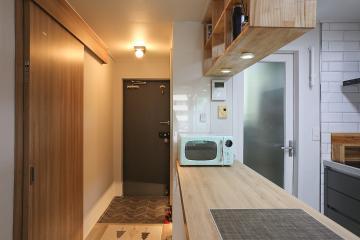 우드 포인트로 심플 내츄럴하게 변신한 22평 아파트 인테리어 22평,화이트,심플,아파트,구로