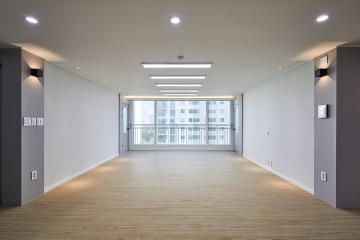 도시적인 감각의 조명 활용과 그레이 모노톤, 36평 아파트 인테리어 36평,그레이,심플,아파트,경기,고양