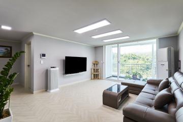 쉐브론 패턴으로 심플함에 포인트를 살린 41평 아파트 인테리어 41평,그레이,심플,아파트,도봉