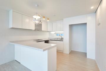 내가 꿈 꿔왔던 순백의 심플 스타일 주방, 33평 아파트 인테리어 33평,화이트,심플,아파트,용인,수지