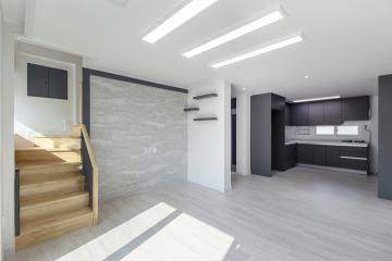모던함과 심플함이 공존하는 40평대 주택 인테리어