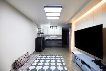 간접조명 효과를 제대로 보여준 24평 아파트 인테리어 24평,화이트,블랙,심플,부천,부천시