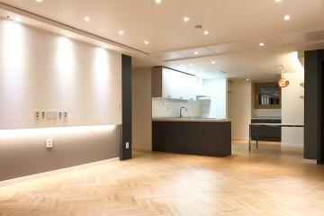 화려한 조명 속 모던함을 비추다, 34평 아파트 인테리어 34평,화이트,그레이,광명,하안동