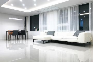 반짝이는 대리석 타일만큼이나 빛이 나는 29평 아파트 인테리어 화이트,심플,영등포,여의도