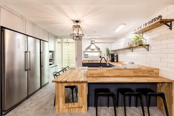 우드 천장 디자인으로 포인트를 준 38평 아파트 인테리어 38평,빈티지,클래식,안산,초지동