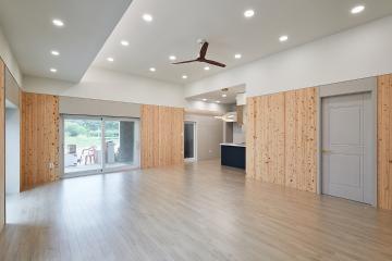 친환경 편백나무 활용한 힐링공간, 30평 주택 인테리어 30평,내츄럴,주택,포천시,길명리