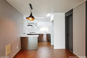 체리우드 헤링본 마루로  고급스럽게 연출한 아파트 인테리어 32평,고급,모던,아파트,노원구