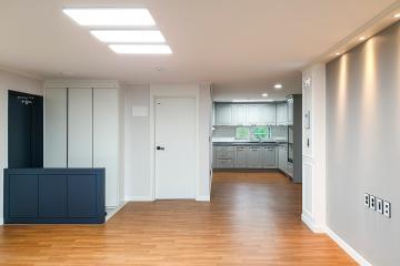 아늑한 품격을 가져다준 그레이 컬러의 매력, 32평 아파트 인테리어 32평,심플,경북,포항,지곡동