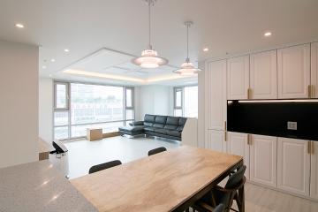 럭셔리한 인테리어 어디서 했냐고 모두가 물어봐, 45평 아파트 인테리어  45평,럭셔리,고급스러움,호텔식,리모델링,부천,상동