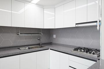 코발트블루와 그레이가 만나 모던함을 연출하다, 28평 아파트 인테리어  28평,모던,성북구,정릉동,코발트블루