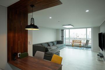 모던함과 아늑함이 공존하는 곳, 32평 아파트 인테리어 32평,아늑함,인천,주안동