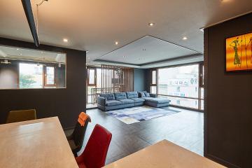 절제된 단일 색과 마감재, 45평 아파트 인테리어  45평,절제의미,단일색상,경기,부천,상동