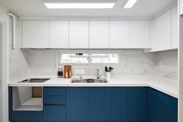 비앙코 카라라 패턴의 고급스러움이 빛을 낸 46평 아파트 인테리어 46평,비앙코카라라,패턴타일,양천구,신월동