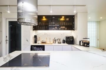 감성과 경험을 암시한 뛰어난 공간감, 60평 아파트 인테리어 60평,고급스러운,세련된,김포,신곡리