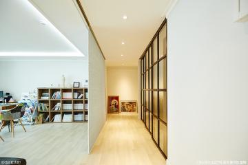 공부방을 함께 운영하는 43평 모던 아파트 인테리어 43평,아파트,블랙&화이트,모던,구리