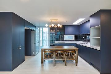 고급스럽고 무게감 있는 모던 스타일, 44평 아파트 인테리어 수원시,망포동
