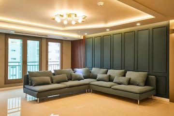 중후함과 세련됨을 공간에 담았다. 44평 아파트 인테리어 고양시,탄현동