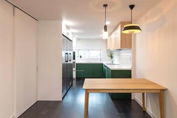 눈으로 즐기고 몸으로 느끼는 공간, 33평 아파트인테리어 33평,자유로움이느껴지는공간,강동구,천호동