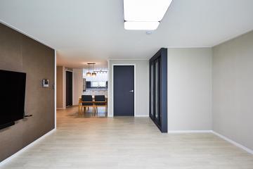 따듯하고 부드러운 공간으로 완성된, 32평 아파트 인테리어 32평아파트,30평대아파트,광명동