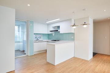 화이트&민트의 싱그러운 조합, 32평 아파트 인테리어 32평아파트,30평대아파트,강서구,화곡동
