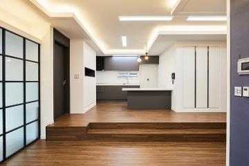 감각적인 구조의 모던 하우스, 80평 주택 인테리어 화이트,블랙,주택,80평주택,고양시,풍동