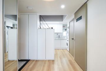 독특한 구조의 화이트 모던 스타일, 9평 아파트 인테리어 9평아하트,광진구,자양동,복층