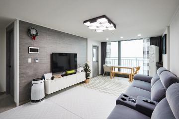 세련된 모던 스타일의 그레이 컬러 23평아파트,20평대아파트,성남시,금광동