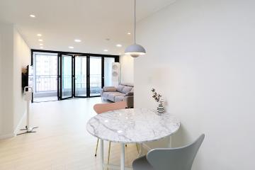 신혼부부 취향저격 미니멀리즘 화이트 공간. 26평 아파트 인테리어  26평,20평대아파트,아파트리모델링,아파트인테리어,부천,상동