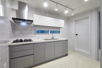 화이트&그레이 색상으로 모던하고 심플하게, 11평 빌라 인테리어