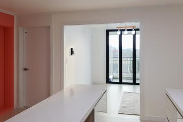포인트 컬러로 독창적이고 생기 넘치는 공간, 23평 아파트 인테리어 20평대아파트,23평아파트,미추홀구,용현동