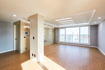 우드 스타일을 기반으로 만들어 낸 모던함, 45평 아파트 인테리어 45평아파트,40평대아파트,군포시,부곡동