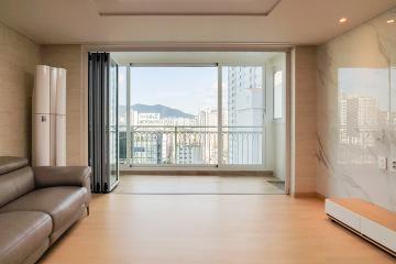 파벽돌과 비앙코카라라 패턴이 돋보이는 공간,  32평 아파트 인테리어 30평대,32평아파트,안양시,동안구,호계동