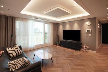 무채색 컬러가 선보인 마법같은 공간 34평,아파트,30평대,남양주,다산동