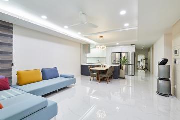 알록달록한 가구와 화이트 컬러의 조화를 이룬 41평 아파트 인테리어 41평아파트,40평대아파트,서구,청라동
