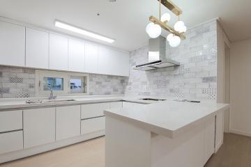 화이트 컬러의 깔끔함이 돋보이는 40평대 아파트 45평,40평대,광주,광산구,신가동
