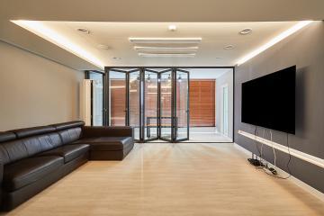 거대한 폴딩도어를 열면 거실이 두 배로! 30평대 아파트 30평대,39평,파주시,동패동