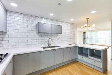 여성스러움이 물씬 풍기는 주방이 돋보이는 30평대 아파트 수원시,장안구,조원동,30평대,34평